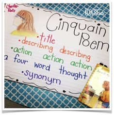 Cinquain Poems - I like her description rather than using the words adjectives and verbs