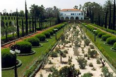 garden at mansion of Bahji, near Acre, Israel--