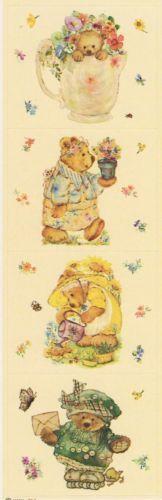 Vintage Mary Hamilton Bears Sticker strip by Hallmark