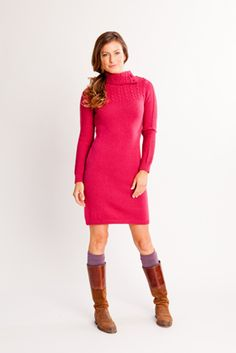 Carve  Laurel Dress - Womens Everything Pink, Wool Sweaters, Fall 2015, Feminine, Carving, Turtle Neck, Chic, Lady, Winter