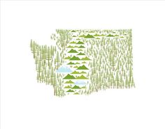 Washington State print #trees