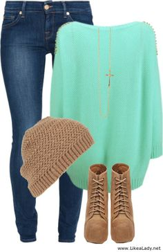 Beautiful combination...id wear all but the hat and the shoes!