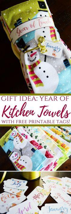 Year of Towels   DIY Gift Idea   DIY Christmas Gift   DIY Teacher Gift   DIY Mother's Day Gift   Mother's Day Gift Idea   Teacher Gift Idea   Women's Gift Idea   #diygiftidea #mothersdaygift #christmasgiftidea