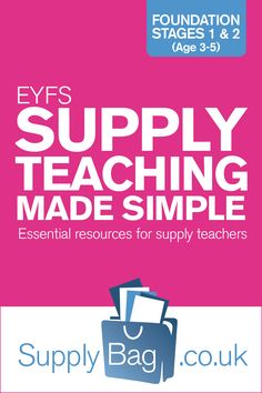 EYFS Supply Teaching Made Simple - Essential resources for supply teachers. Jenny Smith, experienced and fantastic career supply teacher, writes from the head and the heart on how to survive in Early Years as a supply teacher.