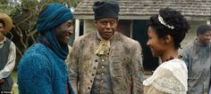 Marriage: Kinte (left) finds friendship in an older slave named Fiddler (Forest Whitaker, center), and eventually marries a woman named Belle (right, played byEmayatzy Corinealdi)