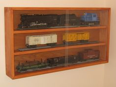 Display cabinet for those old Lionel trains I had as a kid.  So much nicer than keeping them in a box until Christmas time.