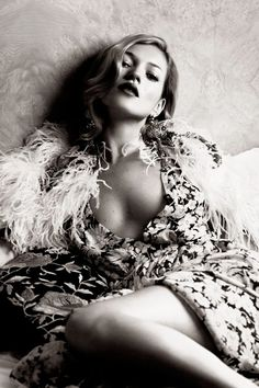 Kate Moss by Lachlan Bailey for the vintage-inspired Kate shoot inside the December 2007 issue of Vogue.