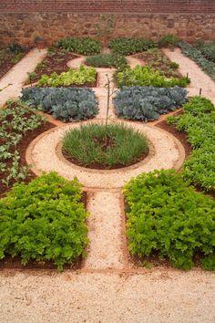 Good Herb Garden Layout : Herb Garden With Mulches And Walkway KATYA
