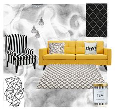 """Kamilla's homestyle"" by szobota-kamilla on Polyvore featuring interior, interiors, interior design, home, home decor, interior decorating, Dot & Bo, Universal Lighting and Decor and Safavieh"