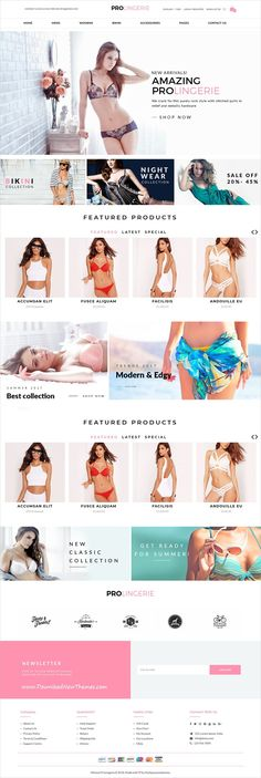 Minimal kart is clean and modern design 6in1 responsive #OpenCart 3 theme for stunning #lingerie #undergarments #shopping eCommerce website to live preview & download click on Visit