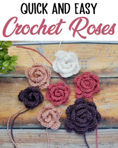 Aren't these crochet roses just darling?! They work for so many different projects and look so pretty in any color! #crochetflower #crochetrose #crochet #diy #freepattern #howto #easypattern #beginner #sewrella