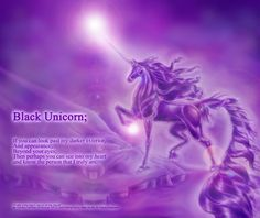 "Black Unicorn Poem (Purple)  By ""Black UniGryphon""  Kandice Kathleen Zimbleman"