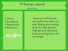 Copycat Plant Therapy (original) Energy recipe
