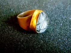 Silver and Gold Ring,Sterling Silver 18k Gold Quartz Statement Ring,Womens Unusual Gemstone Ring,Gift for Women,Gift Idea for Her,Greek Art by ArchipelagosBreeze on Etsy