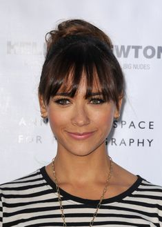 Rashida Jones' Twisted Bun