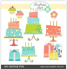 Cake Clipart for cards