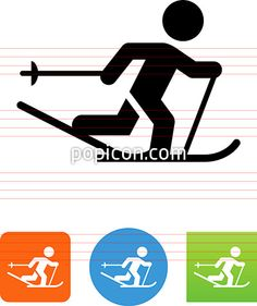 Cross Country Skier Icon - Illustration from Popicon