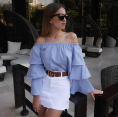Discover recipes, home ideas, style inspiration and other ideas to try. Skirt Outfits, Chic Outfits, Summer Outfits, Fashion Outfits, Fashion Trends, Look Fashion, Retro Fashion, Korean Fashion, Grunge Fashion