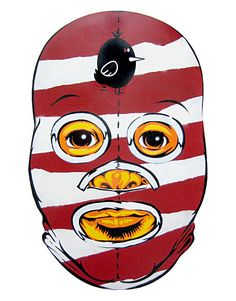wooden mexican wrestler mask luchador collab project peat wollaeger
