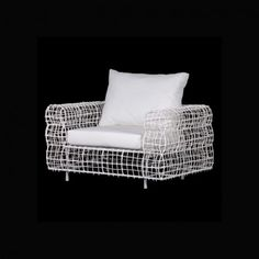 White Wire Mesh Chair With Cush available on Wysada.com