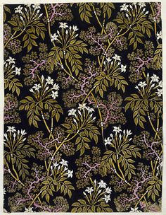 Flowered textile design, by William Kilburn. England, late century by gertrude Textiles, Textile Prints, Textile Patterns, Floral Prints, Surface Pattern, Pattern Art, Pattern Design, Pretty Patterns, Flower Patterns