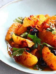 Israeli Salad of Oranges and Black Olives and Harissa