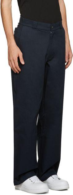 Hood by Air - Pantalon bleu marine Uniform Sag