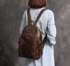 New Arrival Fashion Bag Vintage Backpack College Students School Bag XL01 - ROCKCOWLEATHERSTUDIO