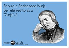 "Should a Redheaded Ninja be referred to as a ""Ginja""...? 