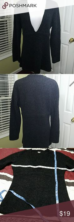 J. Jill deep v-neck dark grey sweater J. Jill deep v-neck dark grey sweater.  In good condition.  Length is about 28 inches.  Bust is about 40 inches.  Materials shown in pictures. J. Jill Sweaters V-Necks