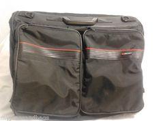 Delsey Hanging Garment Bag Bi-fold Travel Bag Carry On, in Black
