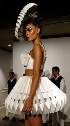 Zaldy paper dress - Repin by  http://TommyAndersson.com Please Re-pin, Like, Comment or Follow! #TommyAndersson