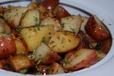 oven roasted potatoes. Might be the best potatoes I've ever made! Used less oil.