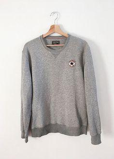 Kup mój przedmiot na #vintedpl http://www.vinted.pl/damska-odziez/bluzy/15810676-converse-bluza-klasyka-szara-logo-minimalizm-hoodie-tumblr-blogerska-must-have