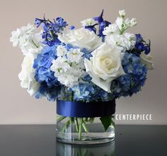 Something blue centerpiece bridal flowers to go something blue wedding shoot Blue Wedding Flowers, Bridal Flowers, Floral Wedding, Wedding Colors, Diy Wedding, Wedding Bouquets, Wedding Reception, Wedding Parties, Purple Bouquets