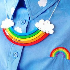 We're seeing double! Shop our new Rainbow Necklace in store and online now.