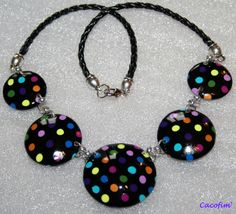 Multi-colored polka dot polymer clay tutorial (in French)