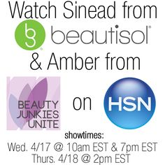 Catch Amber   urray on HSN with Beautisol! | Beauty Junkies Unite