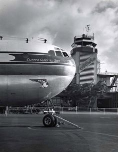The Pan American Boeing Clipper Glory of the Skies parked in front of the…
