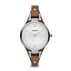 http://picxania.com/wp-content/uploads/2017/08/fossil-womens-es3060-georgia-three-hand-tan-leather-strap-watch.jpg - http://picxania.com/fossil-womens-es3060-georgia-three-hand-tan-leather-strap-watch/ - Fossil Women's ES3060 Georgia Three Hand Tan Leather Strap Watch - Price: The round face of this watch is boyfriend-inspired, but the slim leather strap makes it perfectly feminine. This Georgia watch also features a three hand movement.Stainless steel watch featuring ro
