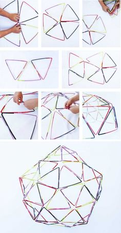 Learn how to make simple straw structures! Fun STEAM activity for kids! Math Activities For Kids, Steam Activities, Science For Kids, Kids Learning, Art For Kids, Book Activities, Stem Projects, Science Projects, Projects For Kids