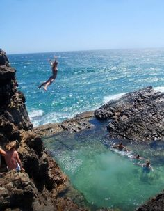 Cliff diving Oahu - beautiful, but so not happening Oh The Places You'll Go, Places To Travel, Places To Visit, Dream Vacations, Vacation Spots, Vacation Travel, Grande Route, Cliff Diving, Cliff Jump