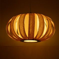 Free shipping ! Wood pendant lamp,looks like a pumpkin,made from Chinese ash and American maple veneer, it is cutely,a great pendant lamp