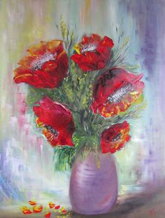 A bouquet of happiness. Oil painting.  Size: 609 x 457mm (24''x 18 ''). A…