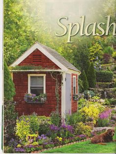Photo This charming tood shed is a cute way to house all your