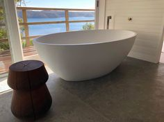 The Coco stone bath in white onyx marble. Bathroom Suppliers, Stone Bath, Onyx Marble, Design