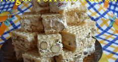 Nugat Torrone Turron w wafelku Krispie Treats, Rice Krispies, Nutella, Food And Drink, Rice Krispie Treats