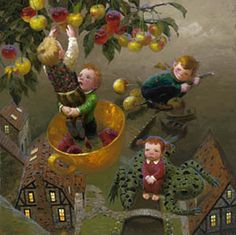 Victor Nizovtsev giclees of fables, fantasy, theatrical and imaginative art, Page 2 Sweet Cherries