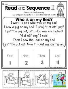 Read and Sequence! Read the simple story, cut and paste the picture to sequence the story! FUN and effective for comprehension!