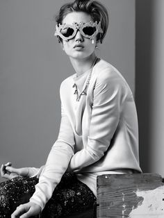 I'm loving glasses and umbrellas right now.  Document #2 : Lindsey Wixson.